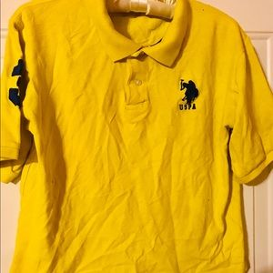 Boys US Polo Association yellow polo